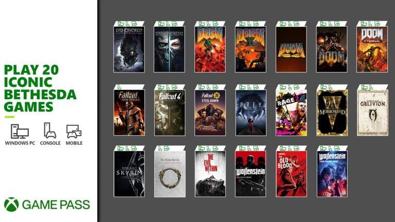 ۲۰ بازی دیگر بتسدا به Xbox Game Pass اضافه شدند