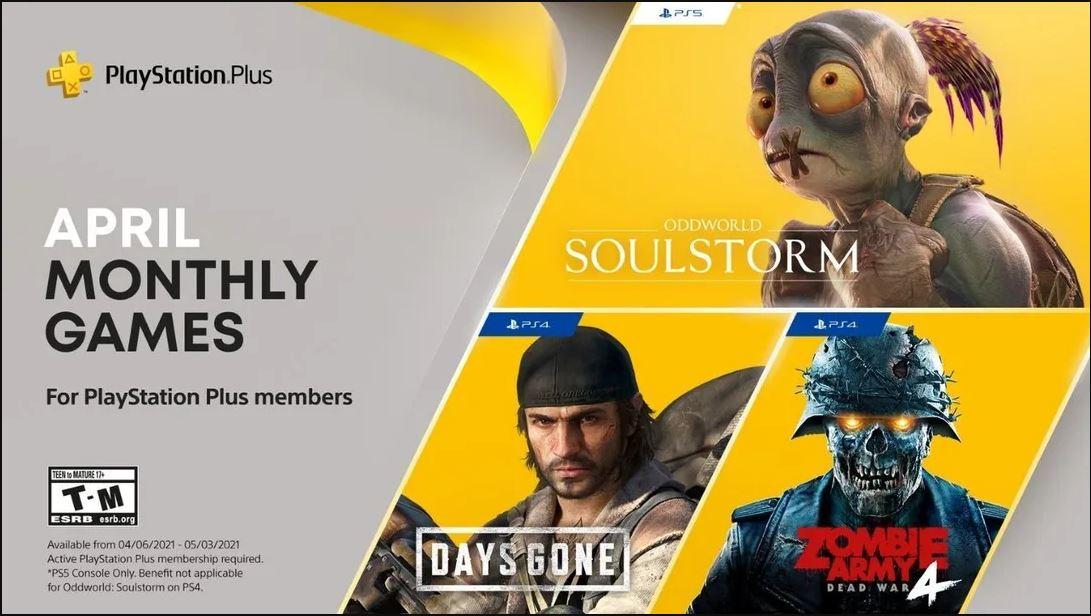از بازیهای رایگان سرویس پلی استیشن پلاس در ماه آوریل رونمایی شد