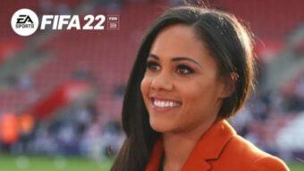 بازی FIFA 22 قصد دارد تا الکس اسکات را به عنوان اولین مفسر زن انگلیسی زبان فوتبال به این مجموعه اضافه کند