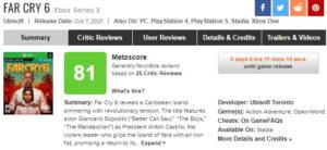 نمرات Far Cry 6