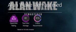 بازی ترسناک Alan Wake Remastered